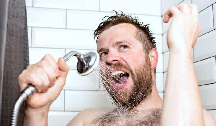 showering the beard