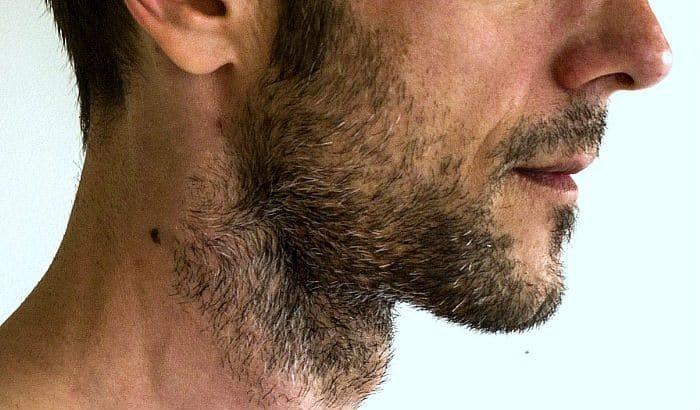 untrimmed beard neckline